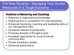 the new dynamic managing your human resources in a tough economy20