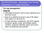 the new dynamic managing your human resources in a tough economy22