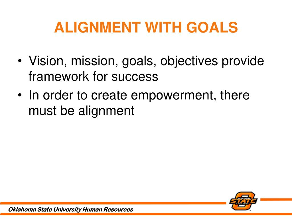ALIGNMENT WITH GOALS