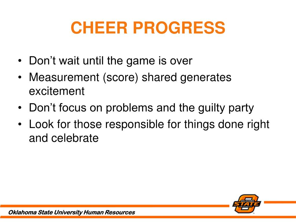 CHEER PROGRESS