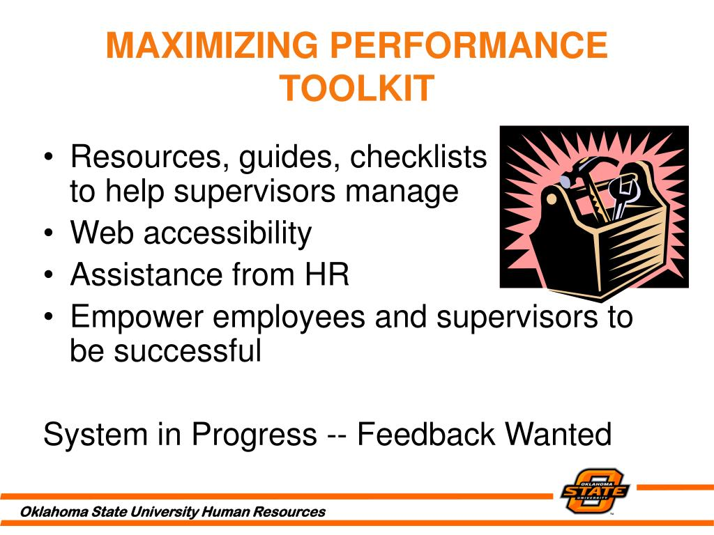MAXIMIZING PERFORMANCE TOOLKIT