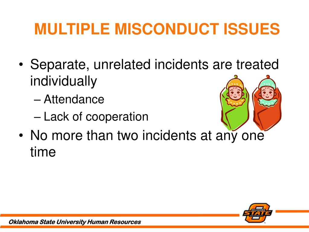 MULTIPLE MISCONDUCT ISSUES