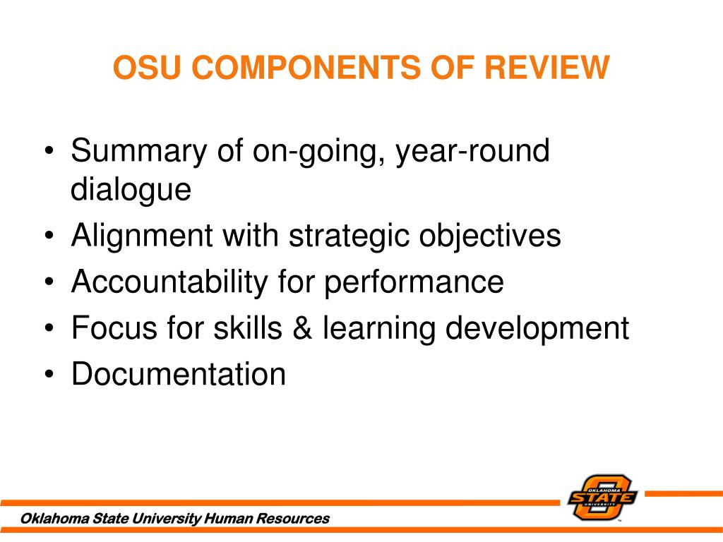 OSU COMPONENTS OF REVIEW