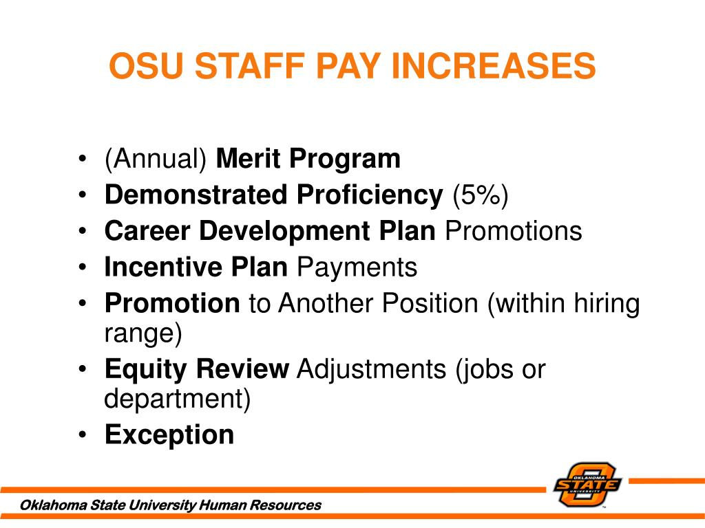 OSU STAFF PAY INCREASES