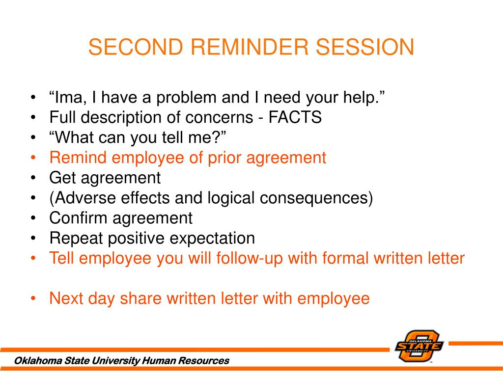 SECOND REMINDER SESSION