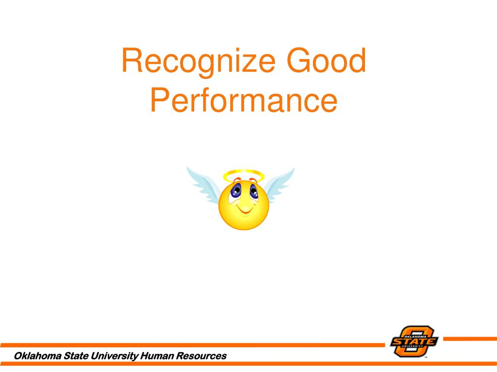 Recognize Good Performance
