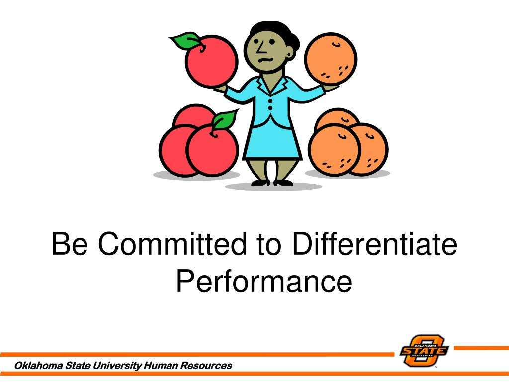 Be Committed to Differentiate Performance