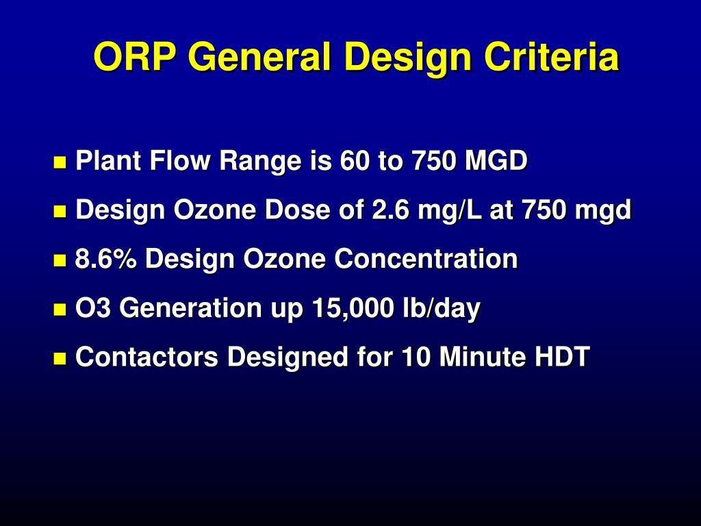 ORP General Design Criteria