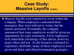 case study massive layoffs cont