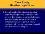 case study massive layoffs cont16