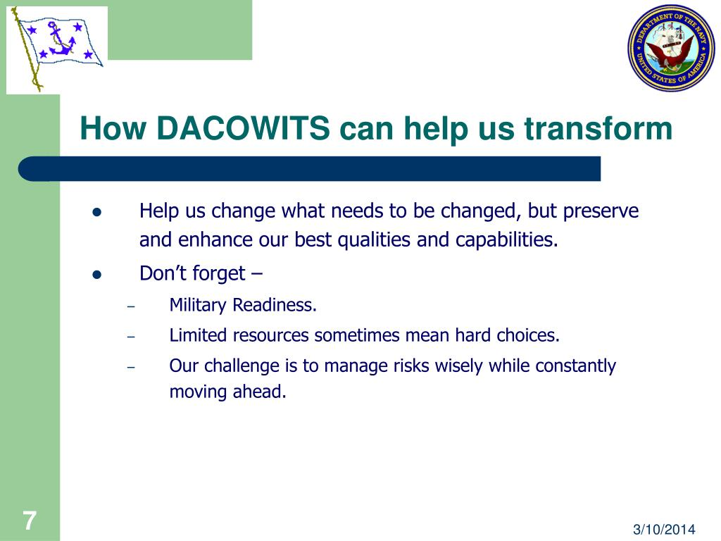 How DACOWITS can help us transform
