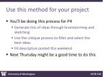 use this method for your project