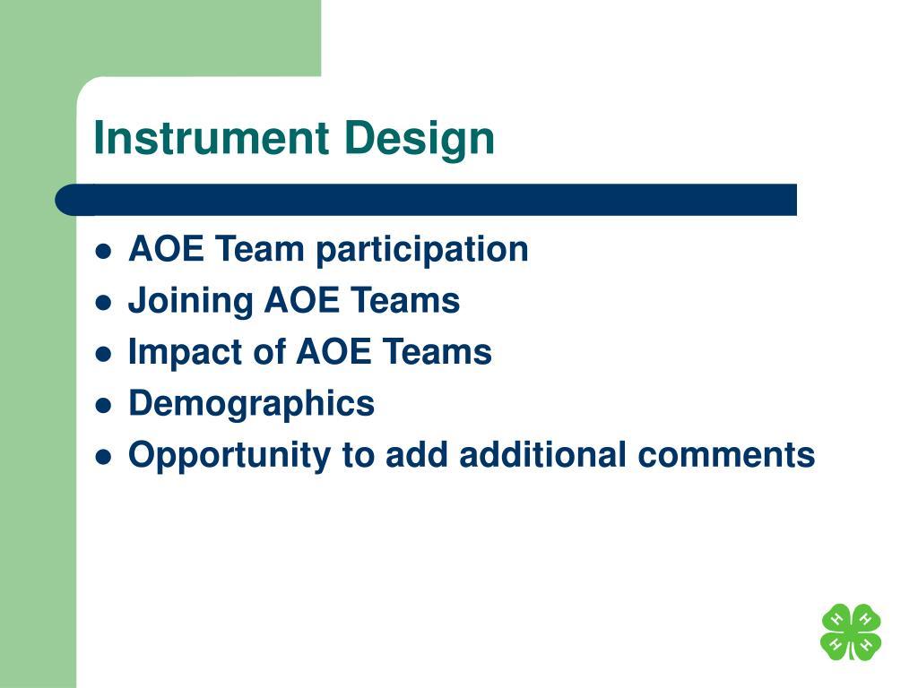 Instrument Design