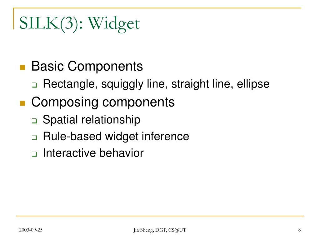 SILK(3): Widget