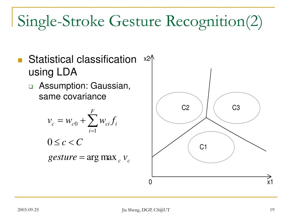 Single-Stroke Gesture Recognition(2)