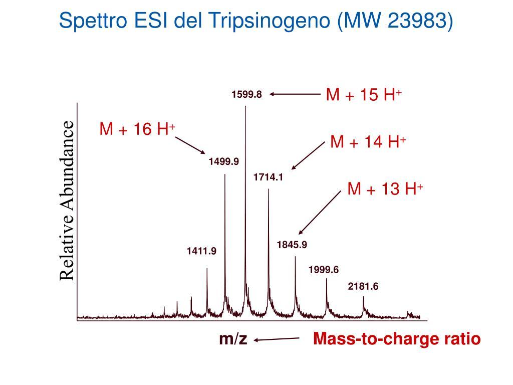Spettro ESI del Tripsinogeno (MW 23983)