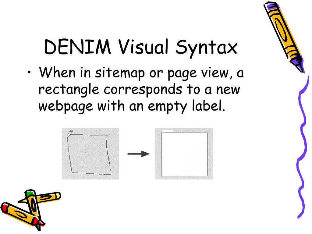 DENIM Visual Syntax