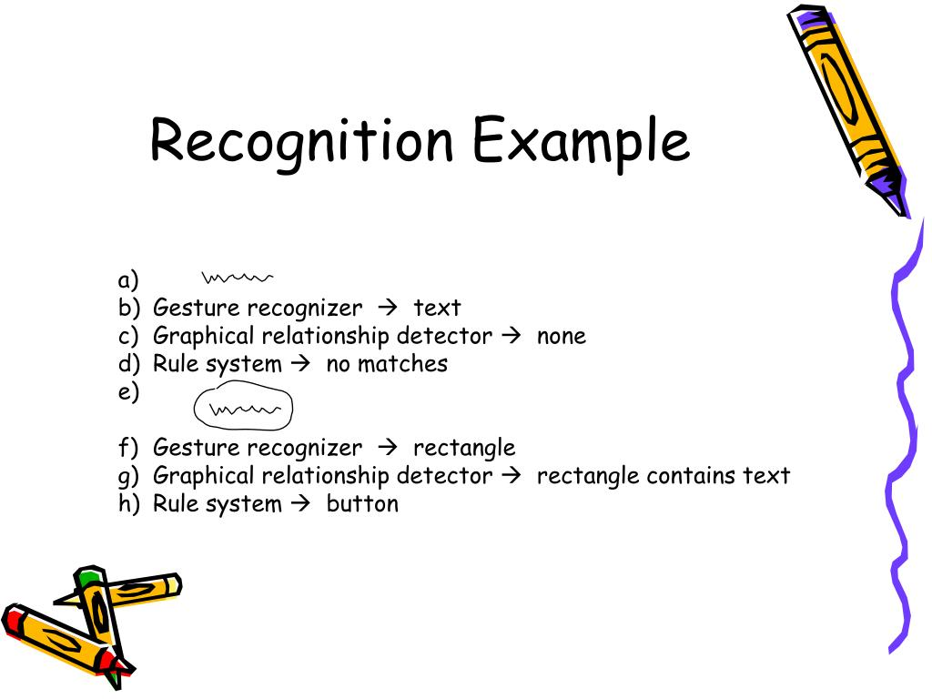 Recognition Example