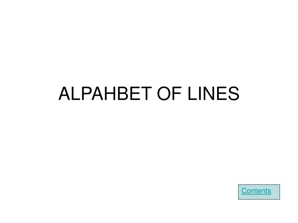 ALPAHBET OF LINES
