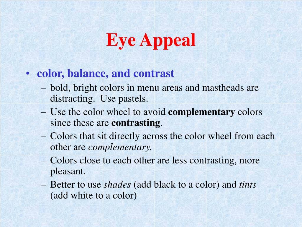 Eye Appeal
