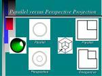 parallel versus perspective projection