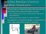 sketching stimulates creativity and helps visualization