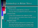 terminology to relate views