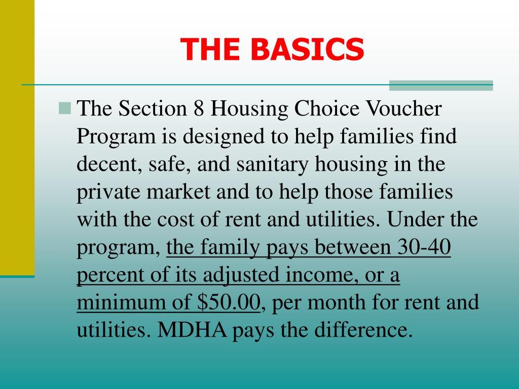PPT - Housing Choice Voucher (Section 8) Participant ...