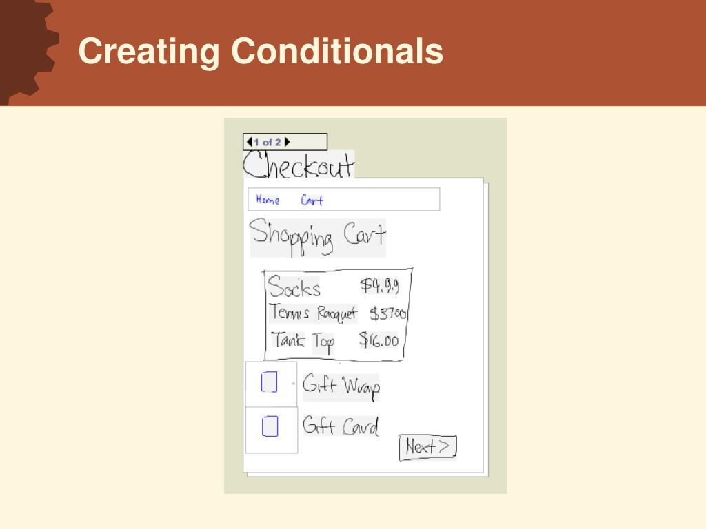 Creating Conditionals