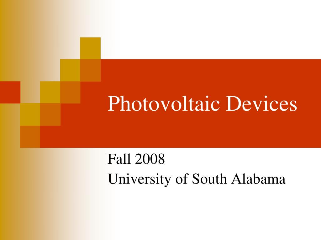 Photovoltaic Devices