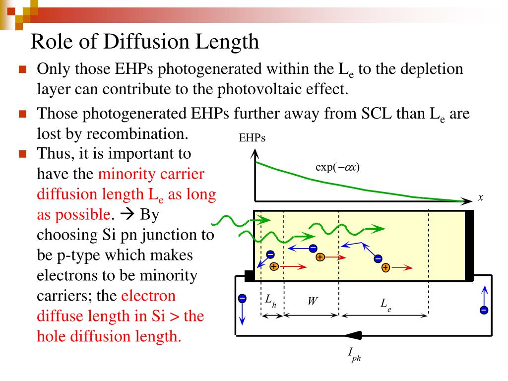 Role of Diffusion Length