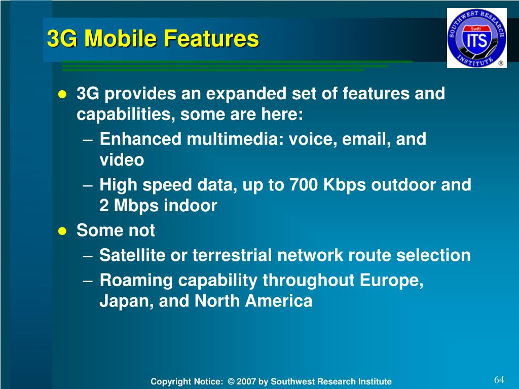 3G Mobile Features