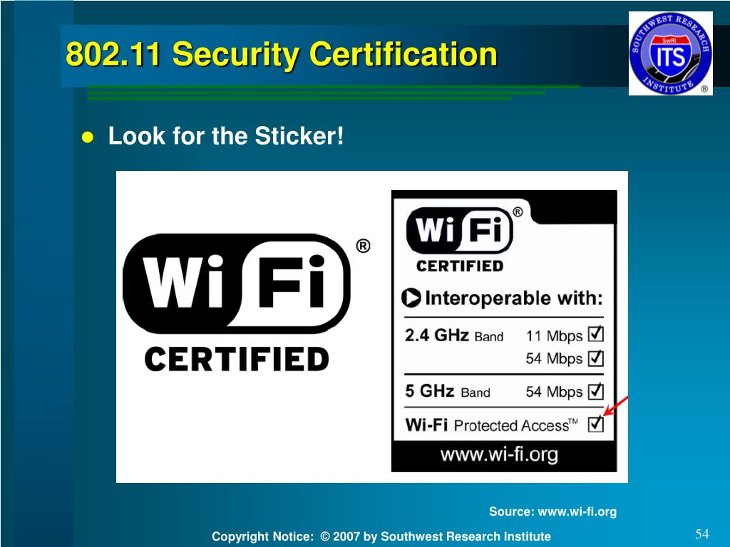 802.11 Security Certification