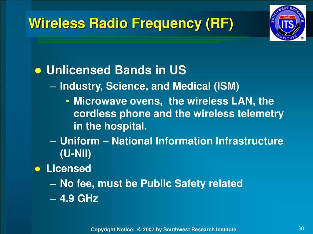Wireless Radio Frequency (RF)