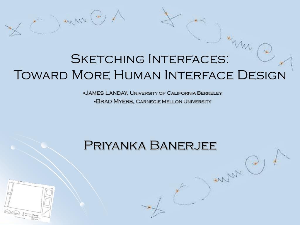 Sketching Interfaces: