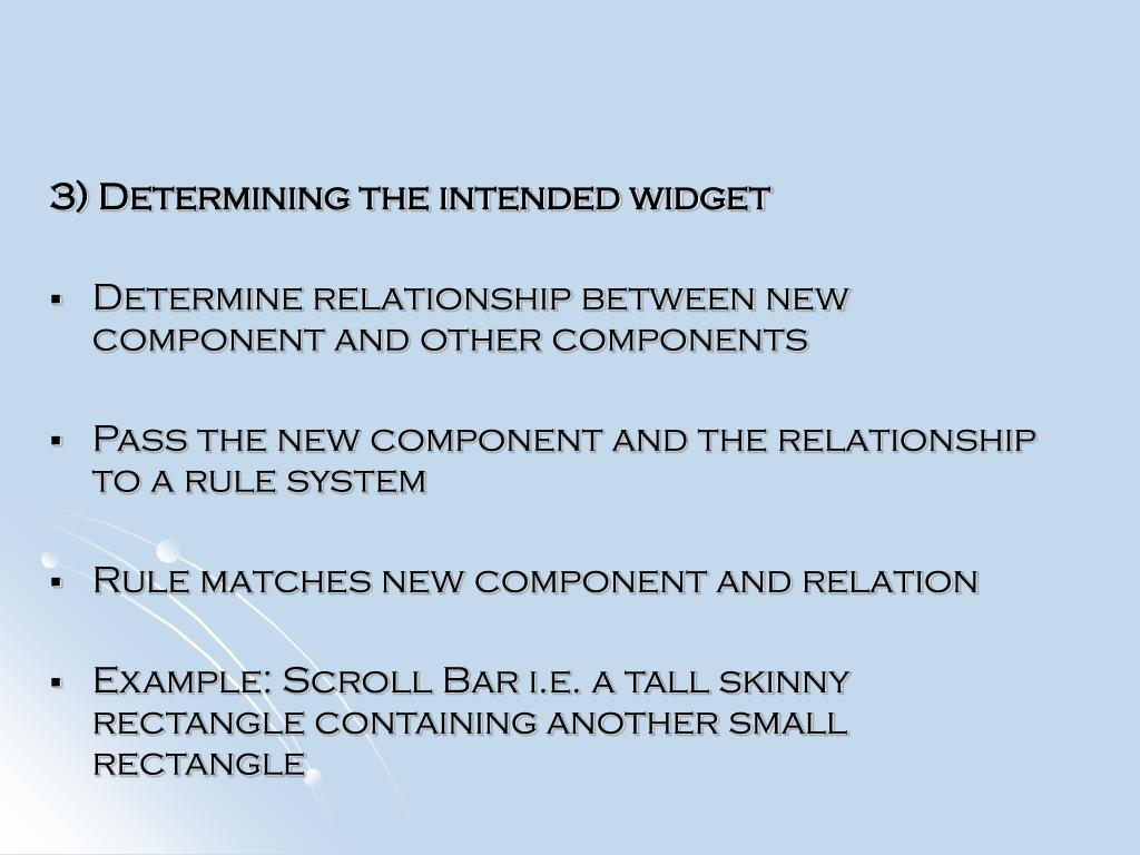 3) Determining the intended widget