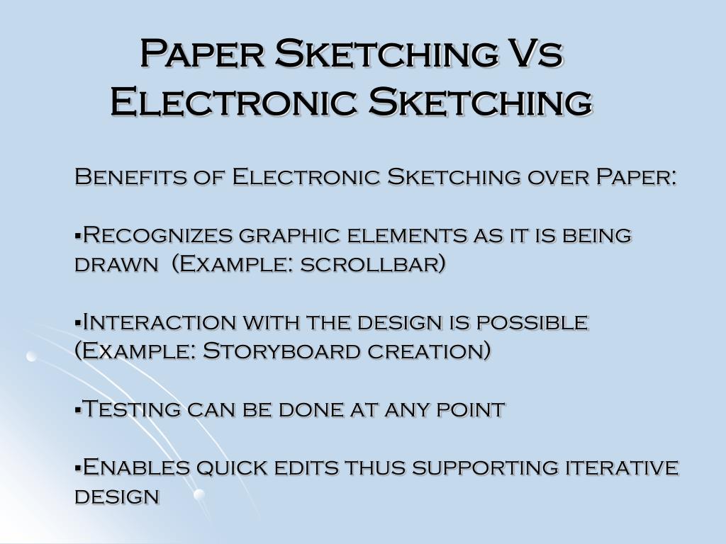 Paper Sketching Vs Electronic Sketching
