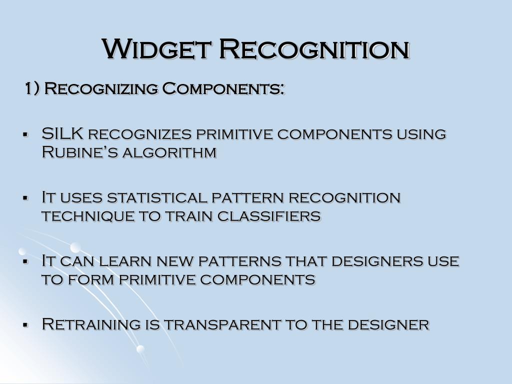 Widget Recognition