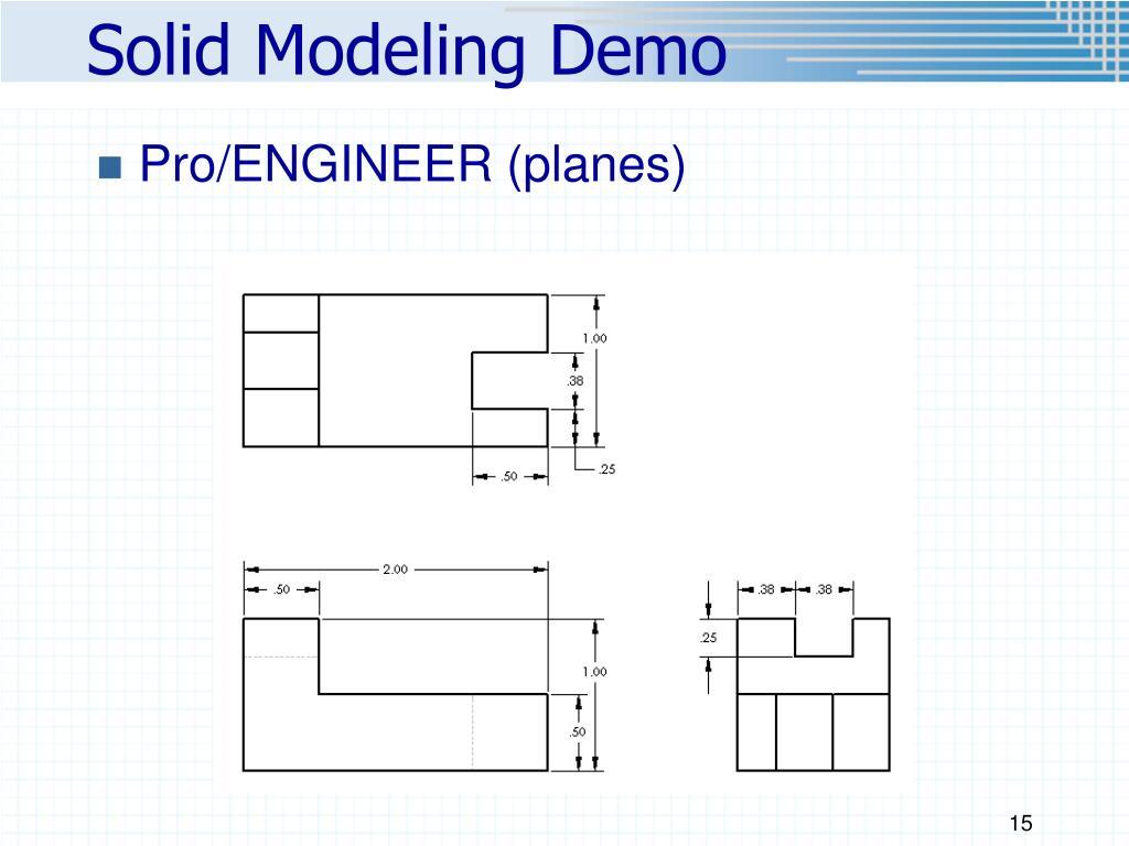 Solid Modeling Demo