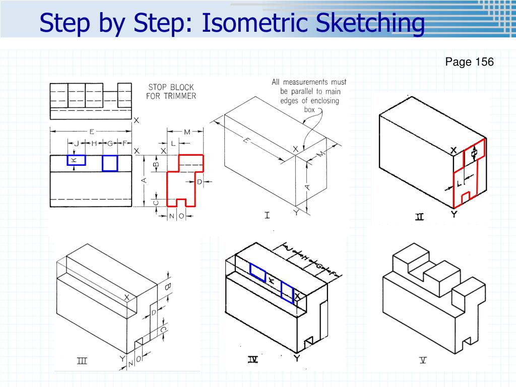 Step by Step: Isometric Sketching
