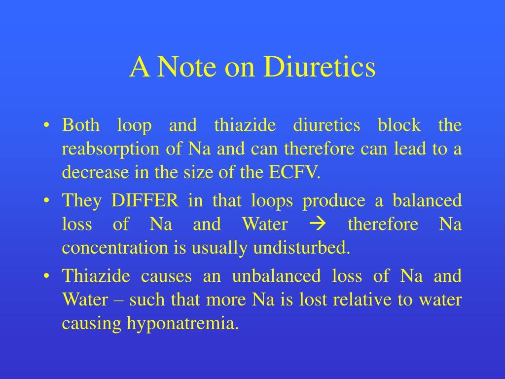A Note on Diuretics
