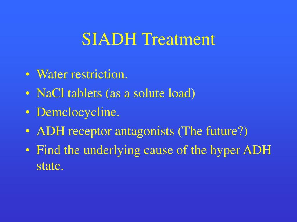 SIADH Treatment