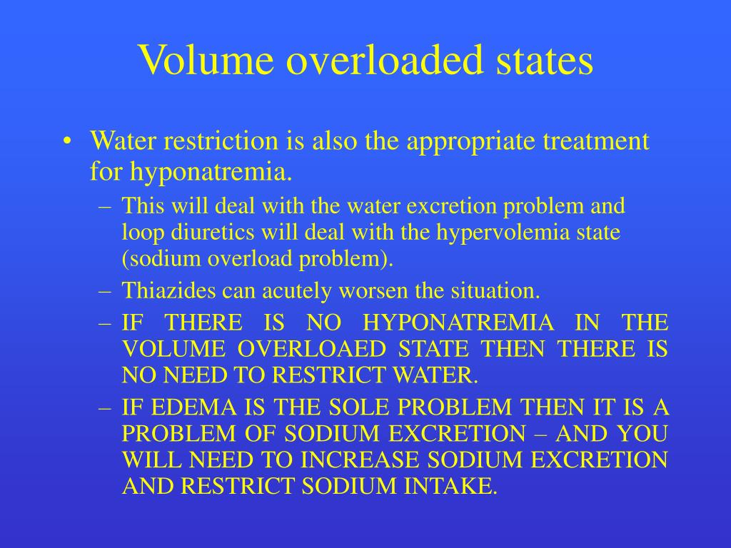 Volume overloaded states