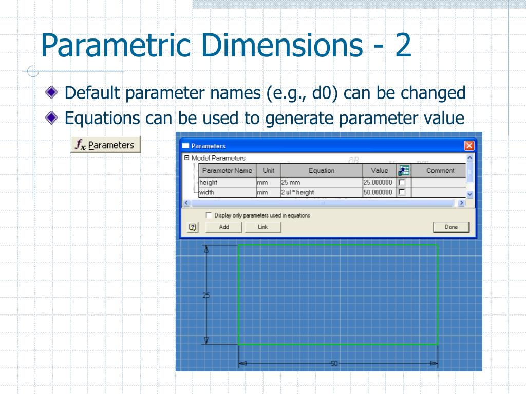 Parametric Dimensions - 2