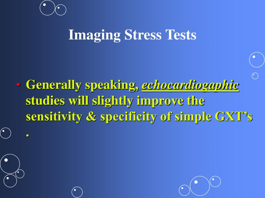 Imaging Stress Tests