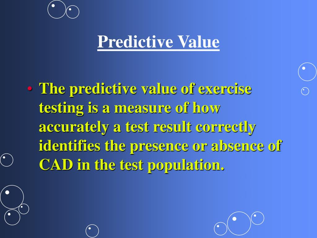 Predictive Value