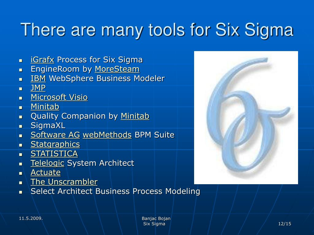 There are many tools for Six Sigma