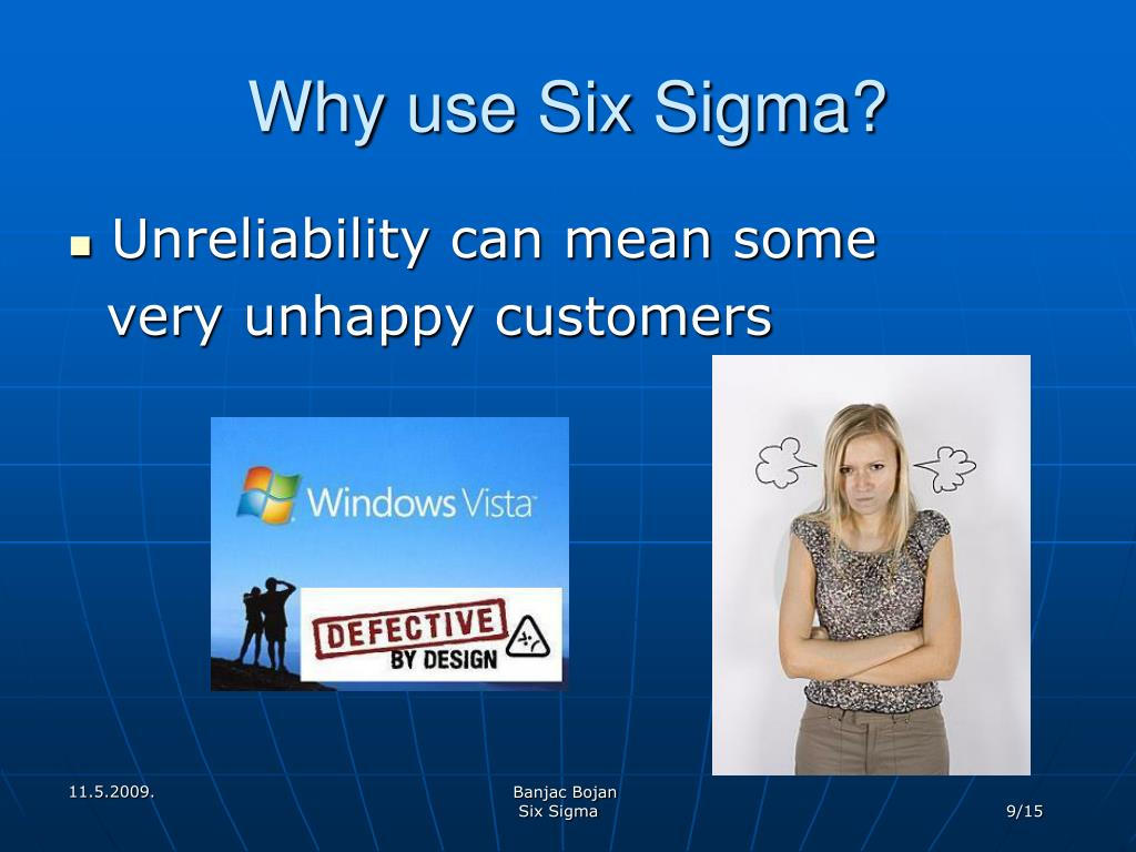Why use Six Sigma?