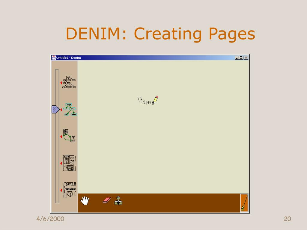 DENIM: Creating Pages
