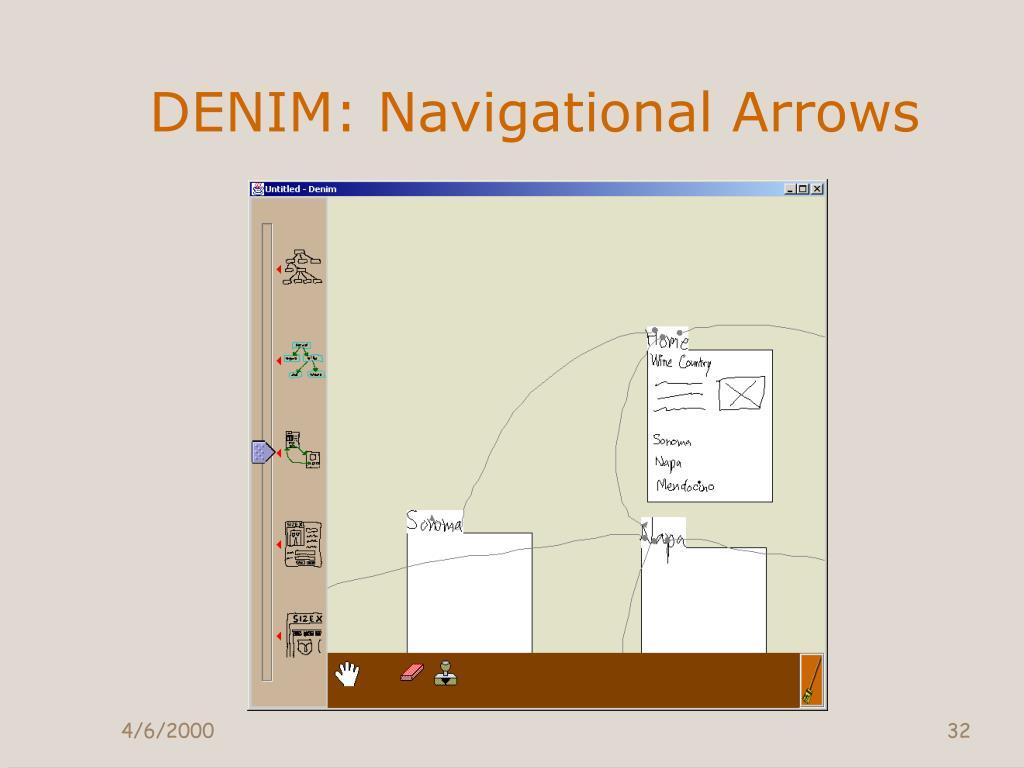 DENIM: Navigational Arrows
